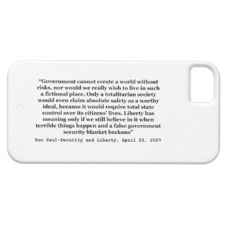 A False Government Security Blanket Quote Ron Paul iPhone 5 Cases
