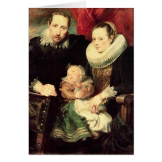 A Family Portrait, c.1618-21 Card