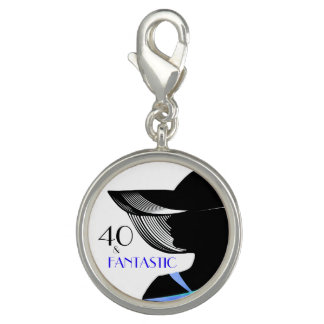 A fantastic 40th birthday keepsake for you. photo charm