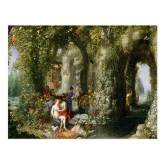 A Fantastic cave with Odysseus and Calypso Postcard