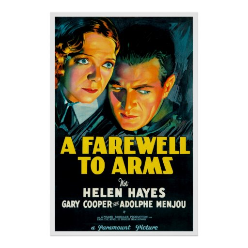 A Farewell To Arms - Vintage 1932 Movie Poster