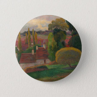 A Farm in Brittany - Paul Gauguin 2 Inch Round Button