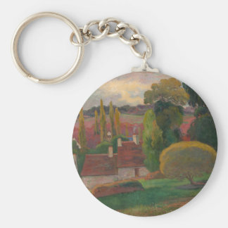 A Farm in Brittany - Paul Gauguin Keychain