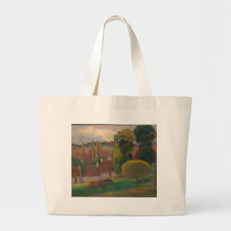 A Farm in Brittany - Paul Gauguin Large Tote Bag