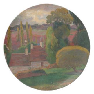 A Farm in Brittany - Paul Gauguin Plate