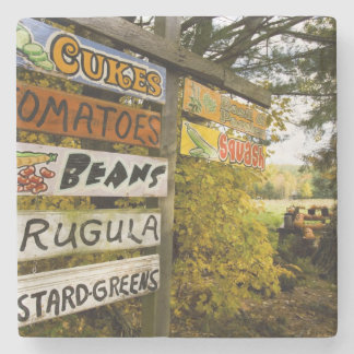 A farm stand in Holderness, New Hampshire. Stone Beverage Coaster
