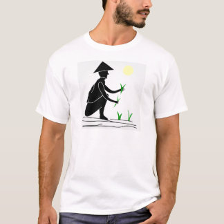 A farmer working in rice fields T-Shirt