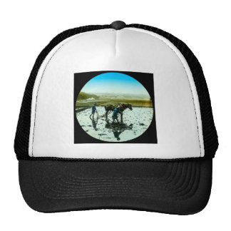 A Farming Scene in Old Japan Vintage Japanese Trucker Hat