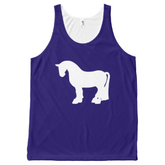 A Fat Navy Pony All-Over-Print Tank Top