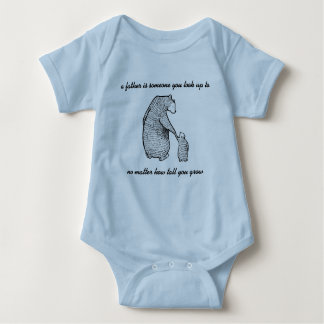 a father is someone to look up to baby bodysuit