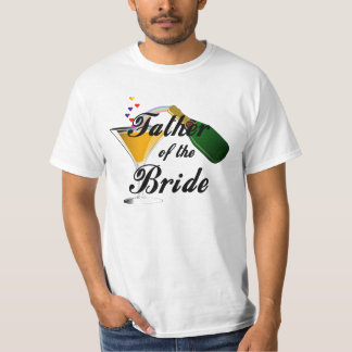 A Father of the Bride Champagne Toast T Shirts