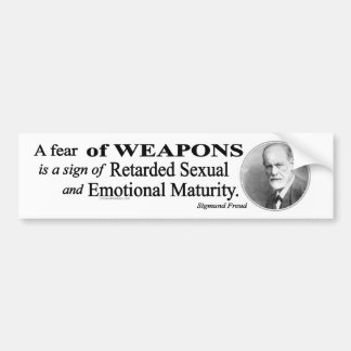 A Fear of Weapons Bumper Sticker