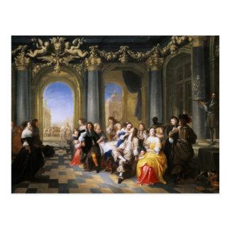 A Feast in an Interior Postcard