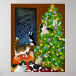 A Feline Family Christmas Poster