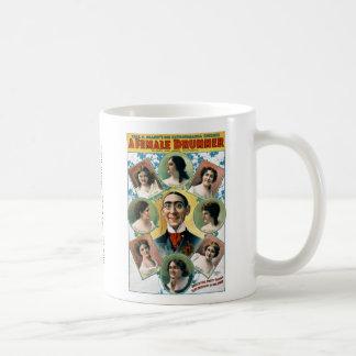A Female Drummer Classic White Coffee Mug