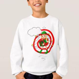 A female Santa elf Sweatshirt