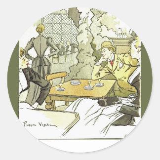 À Femmes~Women de brasserie dans Brasserie~Pierre Sticker Rond