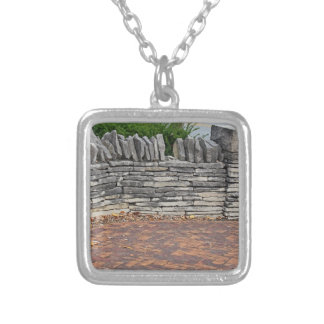 A Fence in Dublin Silver Plated Necklace
