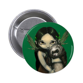 """A Ferret and His Fairy"" Button"