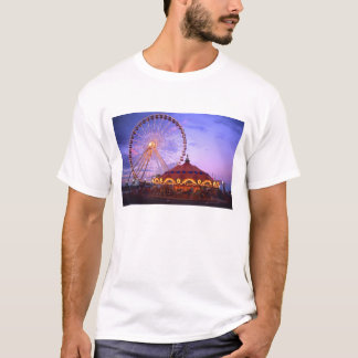 A ferris wheel and carousel at the Navy Pier in T-Shirt