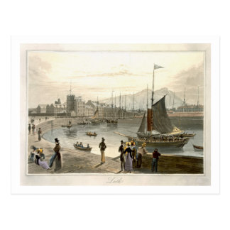 A ferry arriving at Leith, from 'A Voyage Around G Postcard