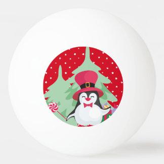 A Festive Penguin - 1 Ping Pong Ball