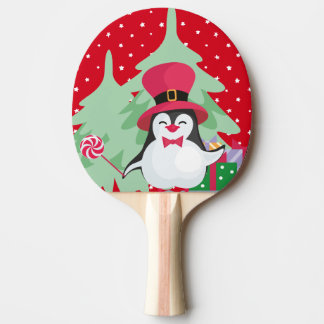 A Festive Penguin - 1 Ping Pong Paddle