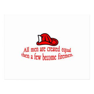 A Few Fireman Postcard