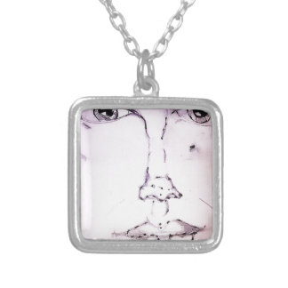 A few Lines of Shadow and Light Silver Plated Necklace