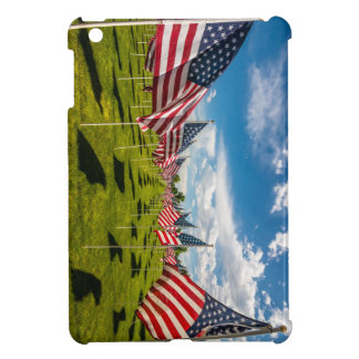 A field of American Flags on V-day Remembrance iPad Mini Cover