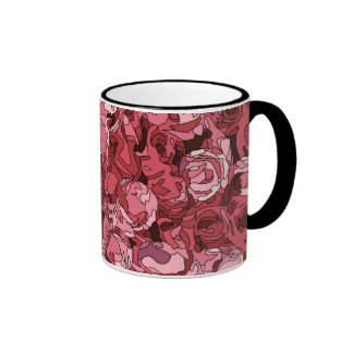 A Field of Pink Roses Coffee Mug