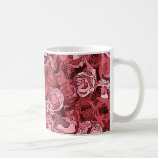 A Field of Pink Roses Coffee Mugs