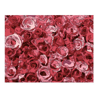 A Field of Pink Roses Postcard