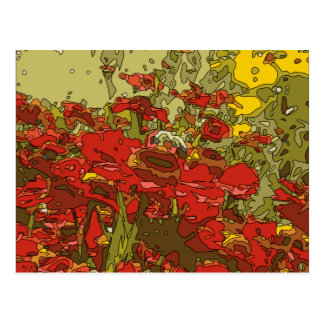 A Field of Red Poppies Post Card