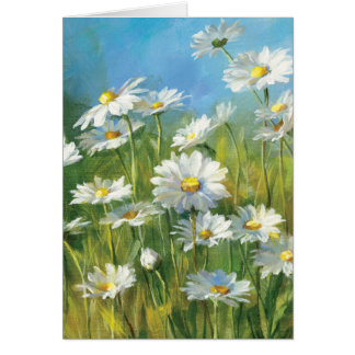 A Field of White Daisies Greeting Card