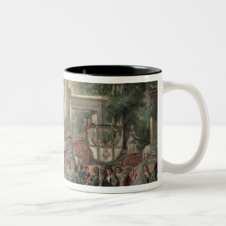 A Fiesta in a Botanical Garden, 1775 Two-Tone Coffee Mug