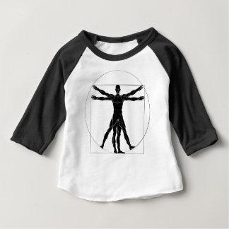 A figure like Leonard Da Vinci s Vitruvian man ana Baby T-Shirt