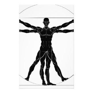 A figure like Leonard Da Vinci s Vitruvian man ana Stationery Design