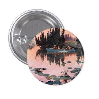 A Fine Catch by John Clymer 1 Inch Round Button