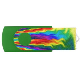 A Fire In A Rainbow USB Flash Drive