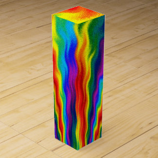 A Fire In A Rainbow Wine Gift Box