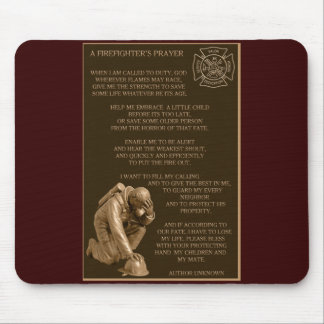 A Firefighter's Prayer Mouse Pad
