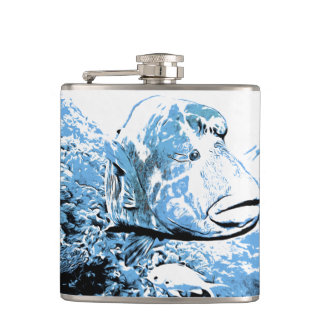 A fish called Wally Hip Flask