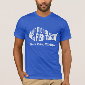 A Fish Tale Customized Place Name T-Shirt