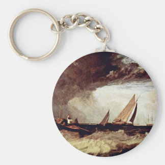 A Fisherman From Shoeburyness Preit A Flatboat Fro Basic Round Button Keychain