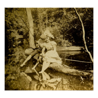 A Fishing Smack - Vintage Stereoview Print