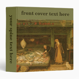 A Fishmonger's Shop by Frederick Walker 3 Ring Binders