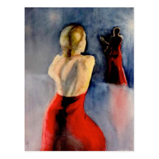 A FLAMENCO DANCER -3 POSTCARD
