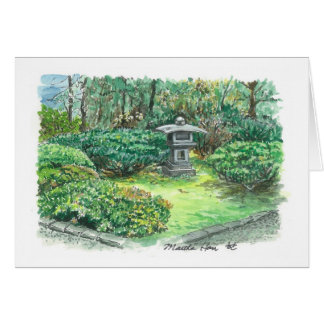 A flavor of an Asian garden Card