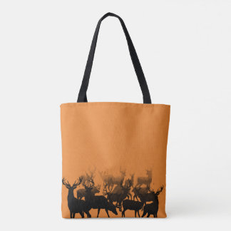 A flock of deer tote bag